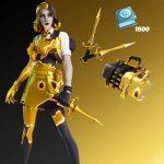 Midas Marigold Fortnite Golden Touch Fortnite Paquete femenino filtrado (precio y fecha de lanzamiento)